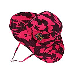 Segolike Sun UV Protective Bucket Hat Cap Bonnie Fishing Hunting Safari Sun Men Women Brim - rose, Free size
