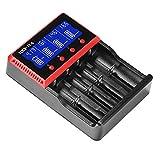 Akku Ladegerät mit LCD Display Li-Ion / NI-MH / NI-CD und LiFePO4 wiederaufbare Akkus Batterie Ladegerät Akku Ladestation intelegentes akku Ladegerät für AA/AAA Batterie [Mehrere Sicherheitsauthentifizierung ]