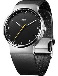 Braun Herren-Armbanduhr Prestige-Slim Armbanduhr Analog Quarz Silikon BN0221BKSLBKG