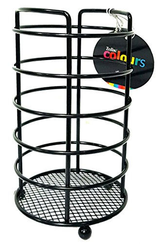 DPNY Black Kitchen Utensils Cutlery Caddy Holder Rack Storage Container Stand