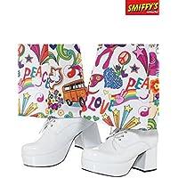 Smiffy 's 43074s Smiffys 70s para hombre zapatos de plataforma, tamaño UK 8/US 9UK Shoe 8