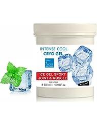 INTENSE COOL CRYO GEL Gel Froid 500 ml - Gel Sport Articulations Circulatoire Effet Froid Anti Gonflement Menthe & Camphre