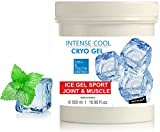 Intense Cryo Gel ● Professional Triple Action Formula Cooling Gel ● Muscle Rub Gel ● by bleu&marine Bretania, 500 ml