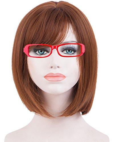 cke Kurz Gerade Braun Farbe Bob Stil Haar für Cosplay Party und Daily Dress ()