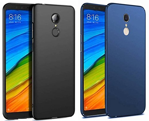 Sun Tigers 360 Degree Protection Sleek Rubberised Matte Hard Back Case Cover For mi Note 5 sold by Sun tiger combo (black-blue)