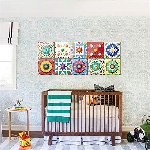 UNIQUE-F Wand Fliesen Aufkleber 20x20 cm Home Decor Badezimmer und Küche DIY arabischen Stil Applique 1 Set 10 Stück -
