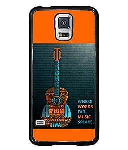 PrintVisa Designer Back Case Cover for Samsung Galaxy S5 Mini :: Samsung Galaxy S5 Mini Duos :: Samsung Galaxy S5 Mini Duos G80 0H/Ds :: Samsung Galaxy S5 Mini G800F G800A G800Hq G800H G800M G800R4 G800Y (Fail Music speaks)