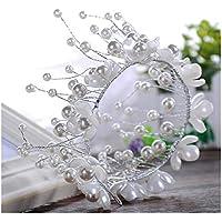 Fascia del cappello ornato decorativo Wedding fascia Faux perla Xagoo per la cerimonia (stile 2) - Ornato Spilla Pin