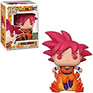 Funko POP! Animation: Dragon Ball Z - SSG Goku with Flames #827 SDCC 2020 Shared Summer Convention Exclusive P