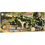 Planet Of Toys Army Camouflage Semi-Auto Running Fire Soft Bullet Gun With 10 Soft Bulllets For Kids / Children