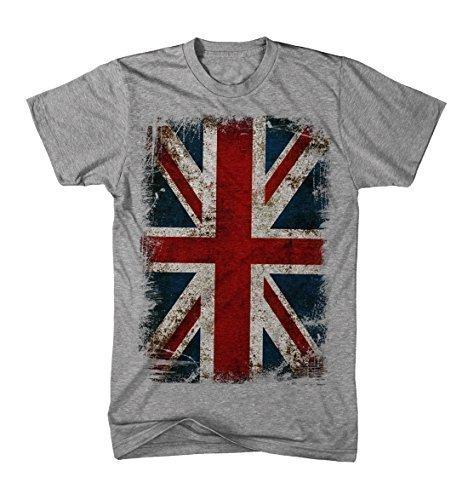 T-shirt Union Jack Flagge Vintage Grunge Rock Stil England Kult (Fahne Rock)