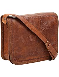 """Handcraft's """"Sean"""" Genuine Leather Unisex Vintage Brown Mac-Book Touch Screen Messenger Bag Gift For His Him 11..."""