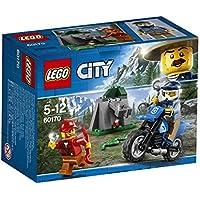 LEGO - 60170 - City - Jeu de Construction - la poursuite en Moto tout - Terrain