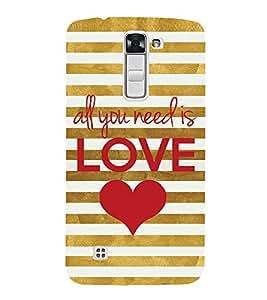 ifasho Designer Back Case Cover for LG K10 :: LG K10 Dual SIM :: LG K10 K420N K430DS K430DSF K430DSY (Every One Needs Love)