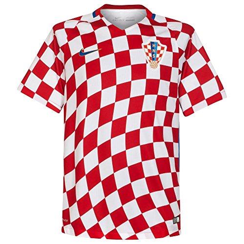 """Nike Performance Herren Fußballtrikot """"Home Trikot Kroatien"""" EM 2016 weiss / rot (908) XXL"""