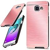 Samsung Galaxy A3 (2016) | Hülle Dünn Rosé-Gold [OneFlow Aluminium Back-Cover] Schutz Handytasche Ultra-Slim Handy-Hülle für Samsung Galaxy A3 2016 Case Metall Schutzhülle Alu Hard-Case