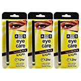 Ads Eye Care Kajal Long Lasting Extra Black Water Proof Kajal 12 Hr (Set Of 3)