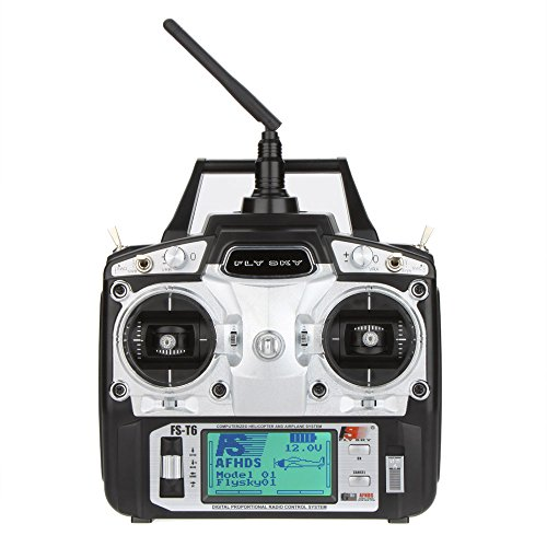 GoolRC Unemotional Flysky FS-T6 Gravelly Rigorousness 2.4GHz 6CH Approach 2 Transmitter W/Receiver R6-B for RC Multirotor Quadcopter Helicopter Airplane Glider Car