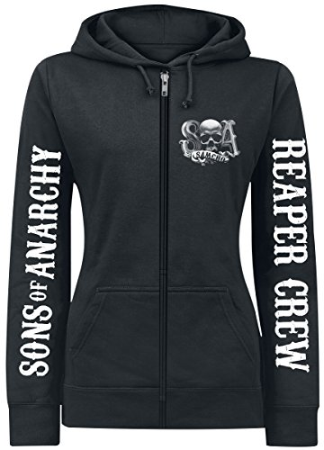 Sons Of Anarchy Reaper Crew Girl-Kapuzenjacke schwarz L