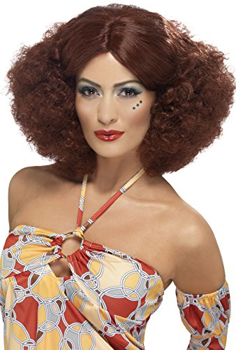 70's Afro Wig Auburn with Middle Parting