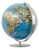 Columbus DUORAMA: Miniglobus, politisch, unbeleuchtet, 12 cm Durchmesser, handkaschiert, Fuß und Meridian edelstahl