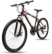 COOLBABY Mountain Bike 26 inch with Iron mountain frame, Featuring 38mm suspension fork and 21 Speed Shifter,
