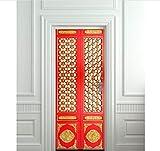PANDABOOM 77X200 cm Asiatischen Orientalischen Bild Wandbild Tür Aufkleber Tapete Aufkleber Dekoration Schlafzimmer Kinderzimmer