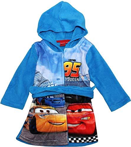 Cars Disney Pixar Jungen Bademantel Morgenmantel (104, Hellblau ()