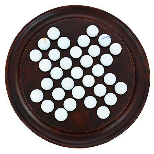 Preisvergleich Produktbild Solitaire Holz Groß Spiel für Erwachsene; Denkwürdiges Handgemachtes geschenk für Kinder Erwachsene 17,7 cm