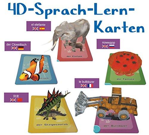 LIVE 4D Flashcards mit Frei APP: Interaktive Sprach-Lernkarten in 9 Sprachen mit 50 Live-Figuren für Kinder ab 3 bis 10 Jahren, Deutsch, Englisch, Spanisch, Französisch, Russisch, Türkisch, Chinesisch, Tamilisch