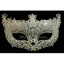 Allsorts® Venetian Silver Filigree Masquerade Ball Mask Party Fancy Dress Christmas