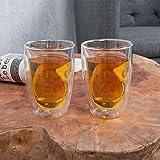 2tlg. doppelwandiges Thermogläserset OLE (je 200ml) Glas Teeglas Thermoglas