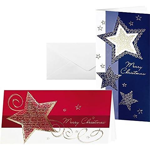 Sigel Elegance - Set de tarjetas de Navidad con sobres, 220 + 100 g, 6 + 6 unidades, DL (2/3 A4)