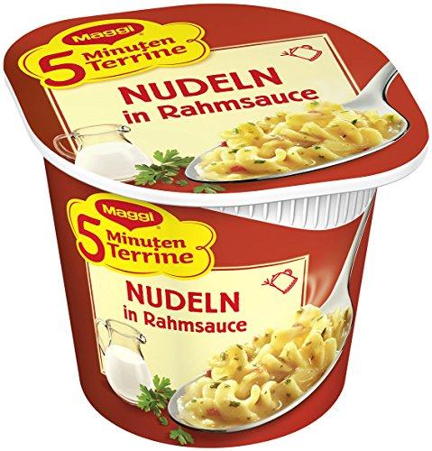 Maggi 5 Minuten-Terrine Nudeln in Rahmsoße, 8er Pack  (8 x 63 g Packung)