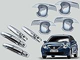 #10: Auto Pearl - Premium Quality Chrome Door Handle Latch Cover With Bowl (With Sensor Model) For - Maruti Suzuki Baleno