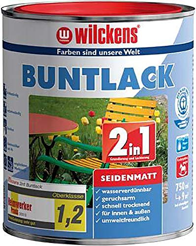 Wilckens 750 ml Buntlack 2in1 Anthrazitgrau RAL 7016 Seidenmatt, auf Wasserbasis
