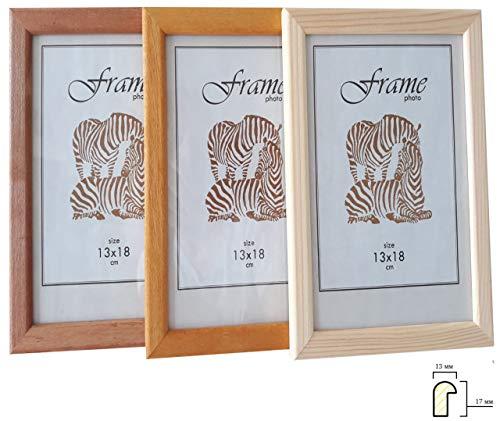 Zebra 1300 Bilderrahmen Holz 10x15 13x18 15x21 20x20 21x30 (A4) 30x30 30x40 (Braun 1301, 21x30 (A4))