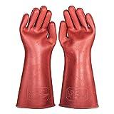 ZXCVBNM Isolierte Handschuhe 12KV Hochspannungs-Elektriker Arbeitsschutz Gummihandschuhe