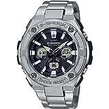 Casio Herren Analog Klassisch Quarz Uhr mit Edelstahl Armband GST-W330D-1AER