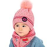Mitlfuny Niños Niñas Sombreros de Punto Gruesa para Bebé Invierno Caliente  Gorro de Lana Algodón Raya 0b5551c49bc