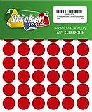 288 Klebepunkte, 20 mm, rot, aus PVC Folie, wetterfest, Markierungspunkte Kreise Punkte Aufkleber