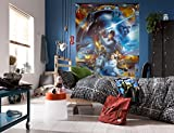 Komar - Star Wars - Fototapete LUKE SKYWALKER COLLAGE - 184 x 254 cm - Tapete, Wand Dekoration, Jedi-Ritter, Rebell - 4-441