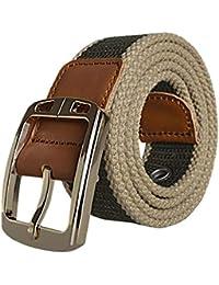 Cinturón De Tela Para Hombres Cinturón Lona De Cinturón De Regalos Tela  Trenzada Cinturón Elástico Cinturón d5960d2402c5