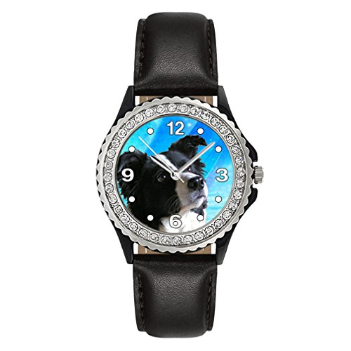 border-collie-strass-montre-femme-bracelet-cuir-noir