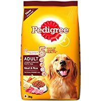 Pedigree Adult Dog Food Meat & Rice, 3 kg Pack