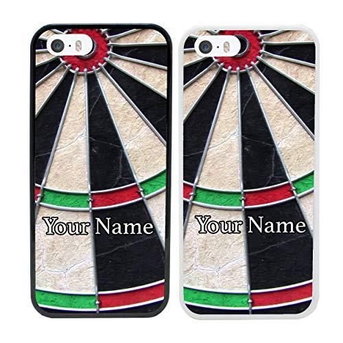 I-CHOOSE LIMITED Darts Personalisierter Handyhülle für Apple iPhone 7 Benutzerdefinierte Hülle Persönlich Dein Name Stoßstange 4,7