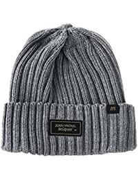WITHMOONS Gorros de punto Beanie Hat Jean-Michel Basquiat Patch Ribbed Slouchy CR5495