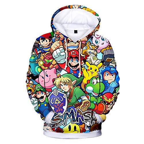 RJHWY 3D Hoodie Sweatshirt Unisex Pullover Kapuzenjacke Kleidung Mario Mantel ()