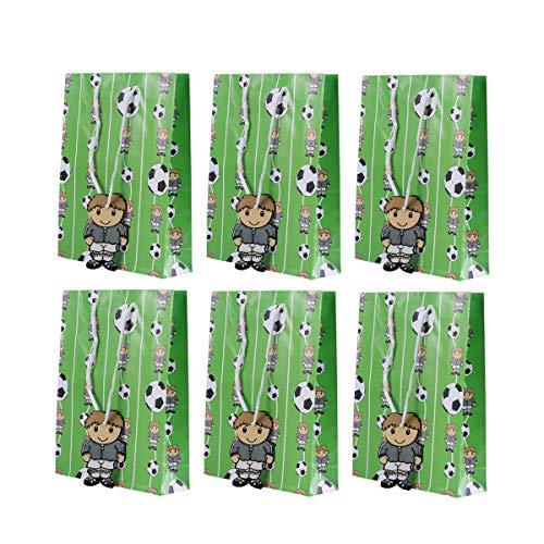 TOYANDONA 6 stücke Geschenk Taschen Fußball Thema Party Favor Taschen Treat Taschen für Jungen Kindergeburtstag Party Grün