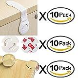 Kindersicherheits Set 30 Stück (10 Steckdosensicherung + 10 Kantenschutz + 10 Baby Sicherheit Sperren Kindersicherung) VOOA